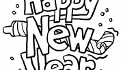 Print out happy new year clipart  2014 Coloring in sheets