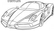 Printable Ferrari Coloring Pages