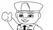Printable Lego police coloring in sheets