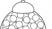 Print out Gum ball machine coloring pages