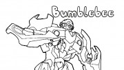 Printable transformers Bumblebee coloring pages