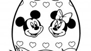 Disney easter egg coloring pages  mickey mouse