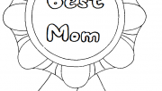 Printable Best Mom Mothers day coloring in pages