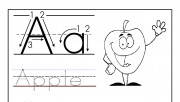 Printable letter A tracin…