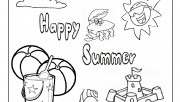 Printable happy summer be…