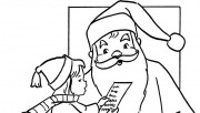 wish list for Christmas Santa coloring pages