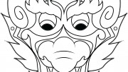 Printable chinese dragon mask coloring pages cut out