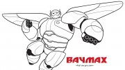Printable big hero 6 baymax coloring pages