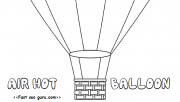 hot air balloon coloring …