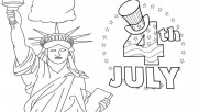 Printable statue of liberty 4th of july