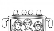 Printable fireman sam and penny morris coloring pages