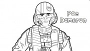 Star Wars the force awakens poe dameron coloring pages