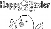 Printable easter chick egg decorating coloring pages