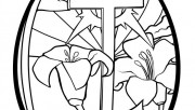 Print out cross easter egg coloring page