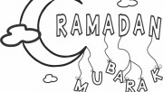 Printable ramadan mubarak coloring pages for kids