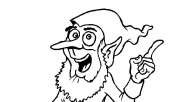Kids coloring pages of Christmas Elves father is happy