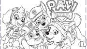 Paw Patrol Everest Rubble Chase Coloring Pages