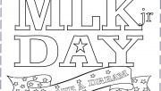 Martin Luther King Day coloring page for kids