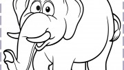 Elephant colouring pages …