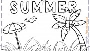 summer holiday coloring p…