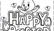 Happy easter card coloring pages print out