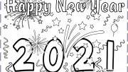 New Years 2021 coloring p…