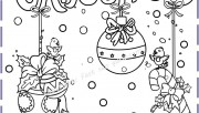 christmas bulbs angel kids coloring pages