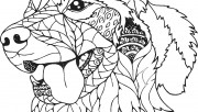 dog coloring pages for ad…