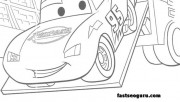 Free kids coloring pages Lightning,McQueens car 2 printabel
