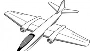Printable coloring pages Air plan B-57B Canberra.