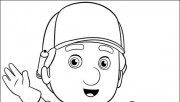 Pages to color Handy Manny