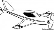 Printable coloring pages for kids flying plane