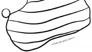 Printable Coloring Pages of Christmas Stocking With Horizontal Lines