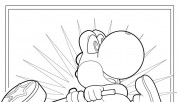 Free printable Mario Coloring sheet yoshi for kids