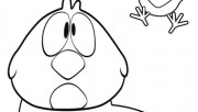 Print out coloring pages pocoyo Sleepy Bird and Baby Bird