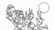 Free Printable coloring pages Reindeer and santa