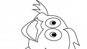 Printable goldfish coloring page for childrens