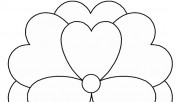 Print out Valentines Day Flower coloring pages for kids