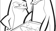 Printable Madagascar 3 The Penguins coloring page