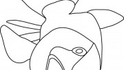 Printable ocean bigmouth fish coloring page