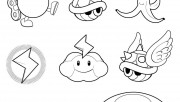 Super mario Koopa Wario Toad coloring pages