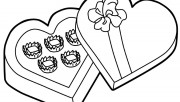 Printable Valentines Day candy gift coloring pages.