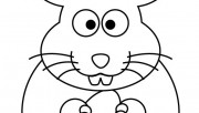 Printable Easter bunny coloring sheet for kids