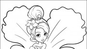Printable barbie thumbelina Chrysella coloring pages