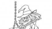 Halloween witches coloring pages