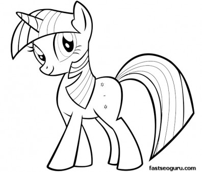 Printable My Little Pony Friendship Is Magic Twilight Sparkle coloring pages