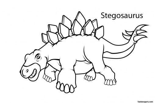 Printable dinosaur stegosaurus coloring pages