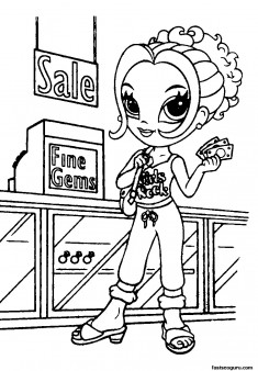 lisa frank characters coloring pages for girls