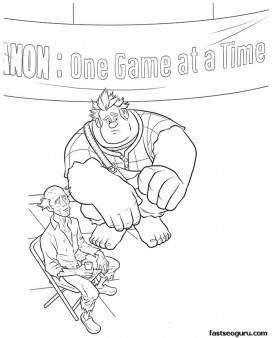 Printable Wreck-It Ralph meets with bad Guys coloring pages