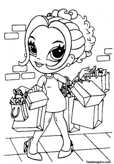 Printable for girls Lisa Frank Coloring Pages
